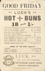 Advert For Luck's, Confectioner